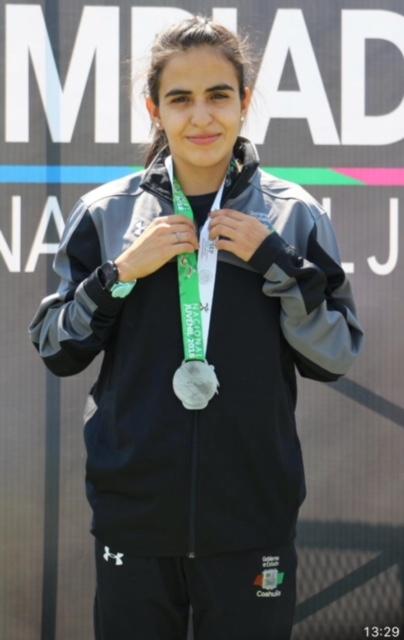 Silvia De La Peña, plata en Olimpiada Nacional