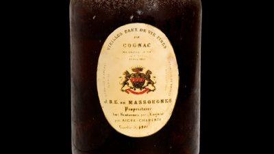 Subastarán en Francia, botellas de vino de hace casi 250 años