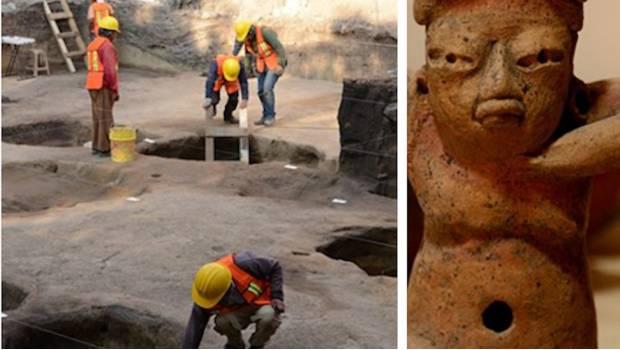Descubren al sur de la CDMX 26 fosas prehispánicas que datan de 2 mil 500 años