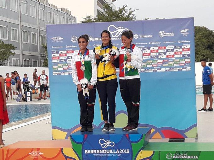 Paola Espinoza y Carolina Mendoza  ganan medallas  para México en Barranquilla 2018