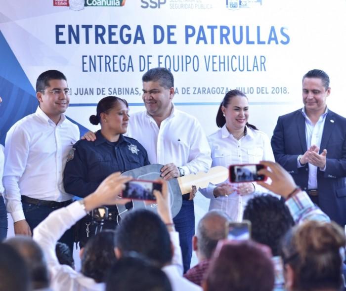 RIQUELME FORTALECE LA SEGURIDAD DE LOS CUERPOS POLICIACOS EN LA REGIÓN CARBONÍFERA DEL ESTADO