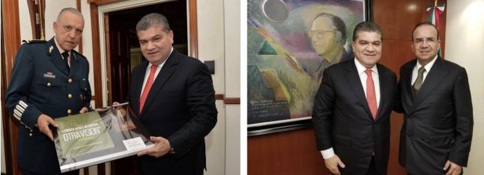 Sostiene Gobernador Miguel Riquelme Importantes reuniones
