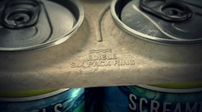 Los anillos biodegradables para los paquetes de cerveza ya son una realidad