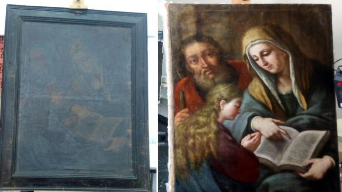 Un valioso cuadro napolitano pasa ochenta años escondido en Teruel