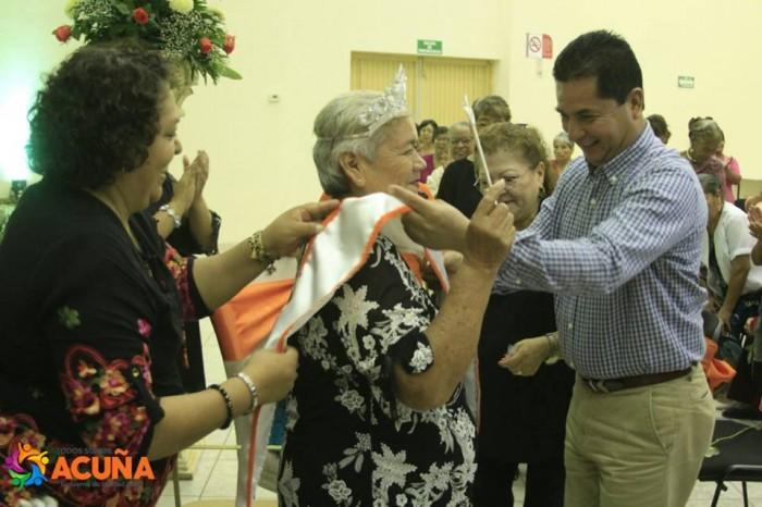 Eligen a Reina del AdultoMayor 2018-2019 en Acuña Coahuila.