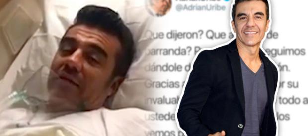 Ordenan a Adrián Uribe reposo total