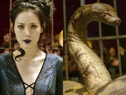 Nagini la serpiente de Voldemort antes de Harry Potter.