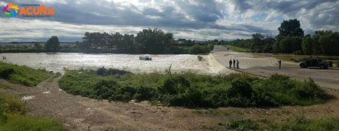 Evalúan Autoridades afectaciones por Tormenta Severa en Acuña Coahuila.