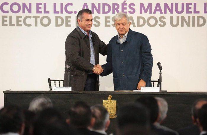 Recibe Jaime Rodriguez Calderón a Andrés Manuel y tocan puntos de acuerdo