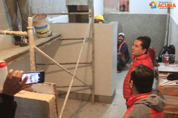 Supervisa avance de remodelación en la Primaria Benito Juárez.
