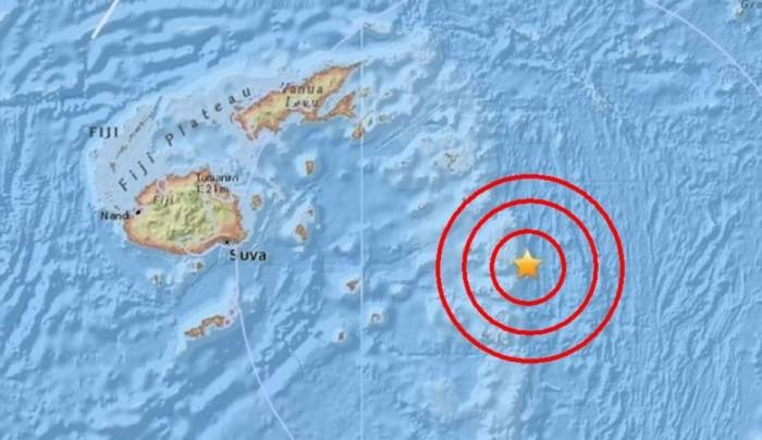 Se registra sismo de 6.6 grados en el mar en el este de Fiyi