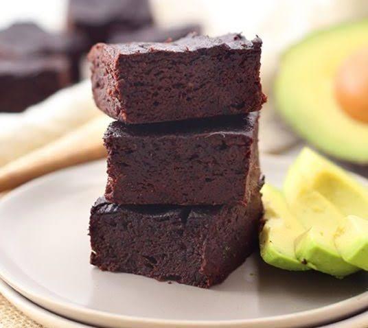 Brownies de aguacate.