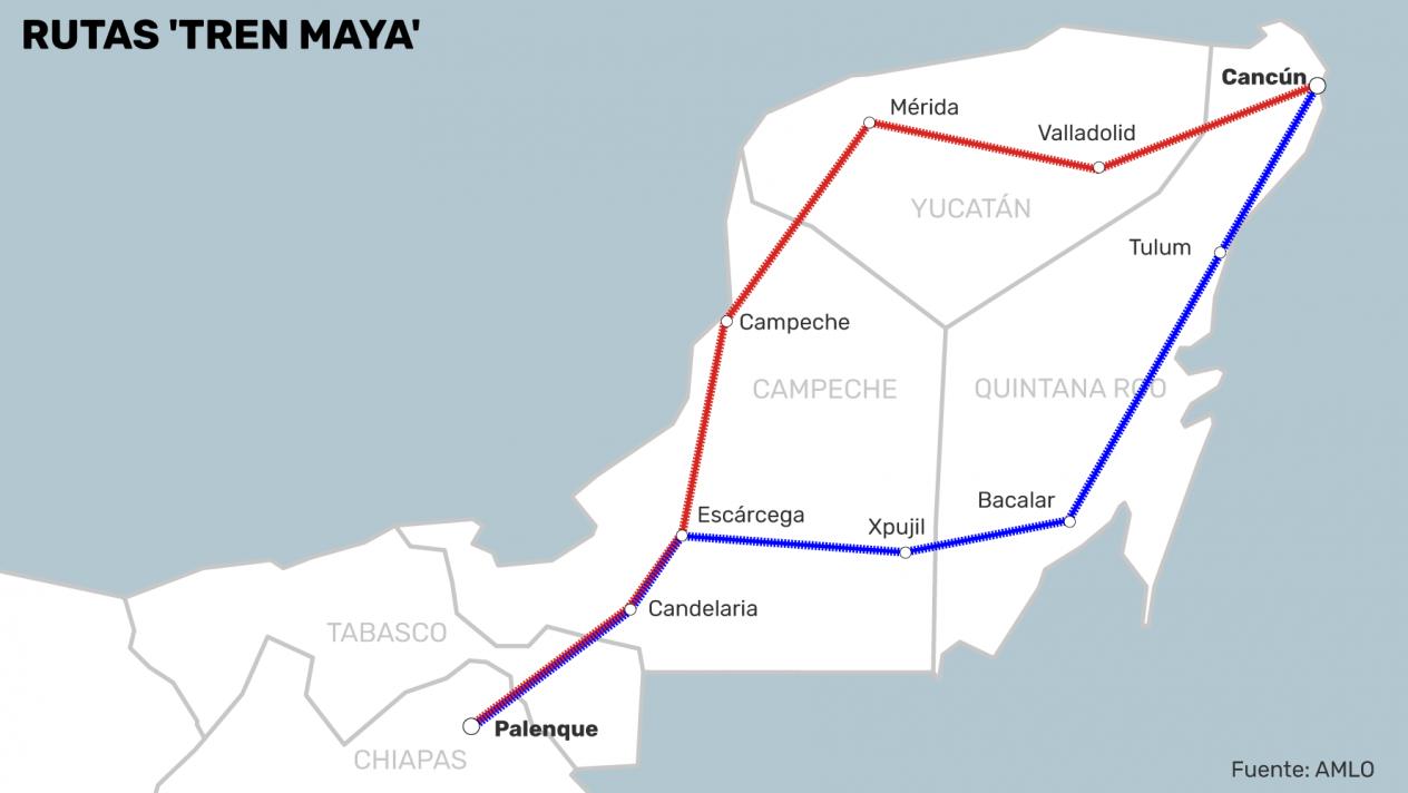 Se reunirá AMLO con los cinco gobernadores para afinar Tren Maya