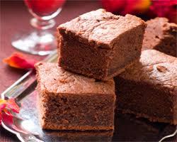 Brownies esponjosos.