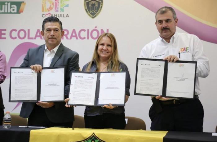 FIRMAN DIF E INSTITUTO CENTRAL COAHUILA, A.C. CONVENIO DE COLABORACIÓN EN BENEFICIO DE ADULTOS MAYORES EN ABANDONO