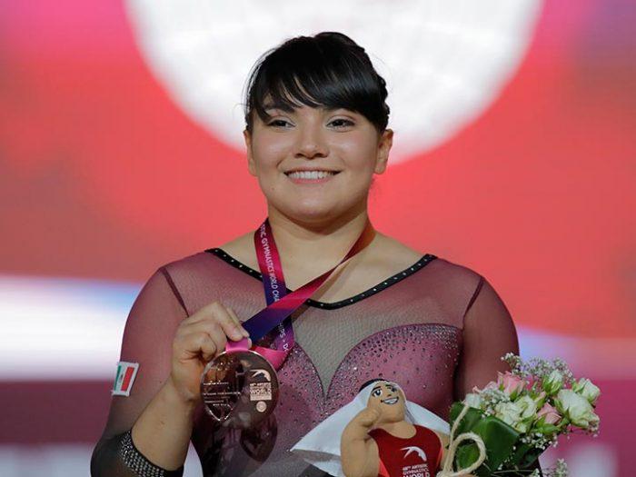 Alexa Moreno se convierte en la primera mexicana medallista en un Mundial de Gimnasia