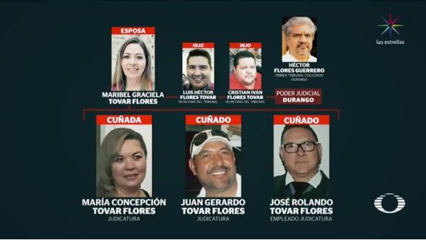 Magistrado de Durango tiene al menos a 14 familiares en la nómina del Poder Judicial
