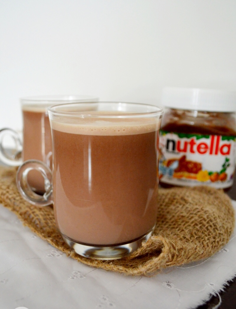 Chocolate caliente de Nutella.