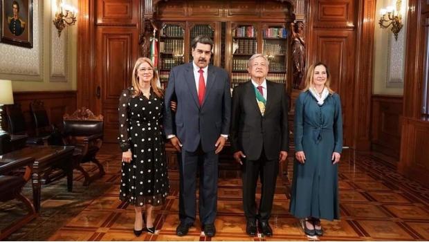 AMLO sostuvo breve encuentro con Maduro en Palacio Nacional