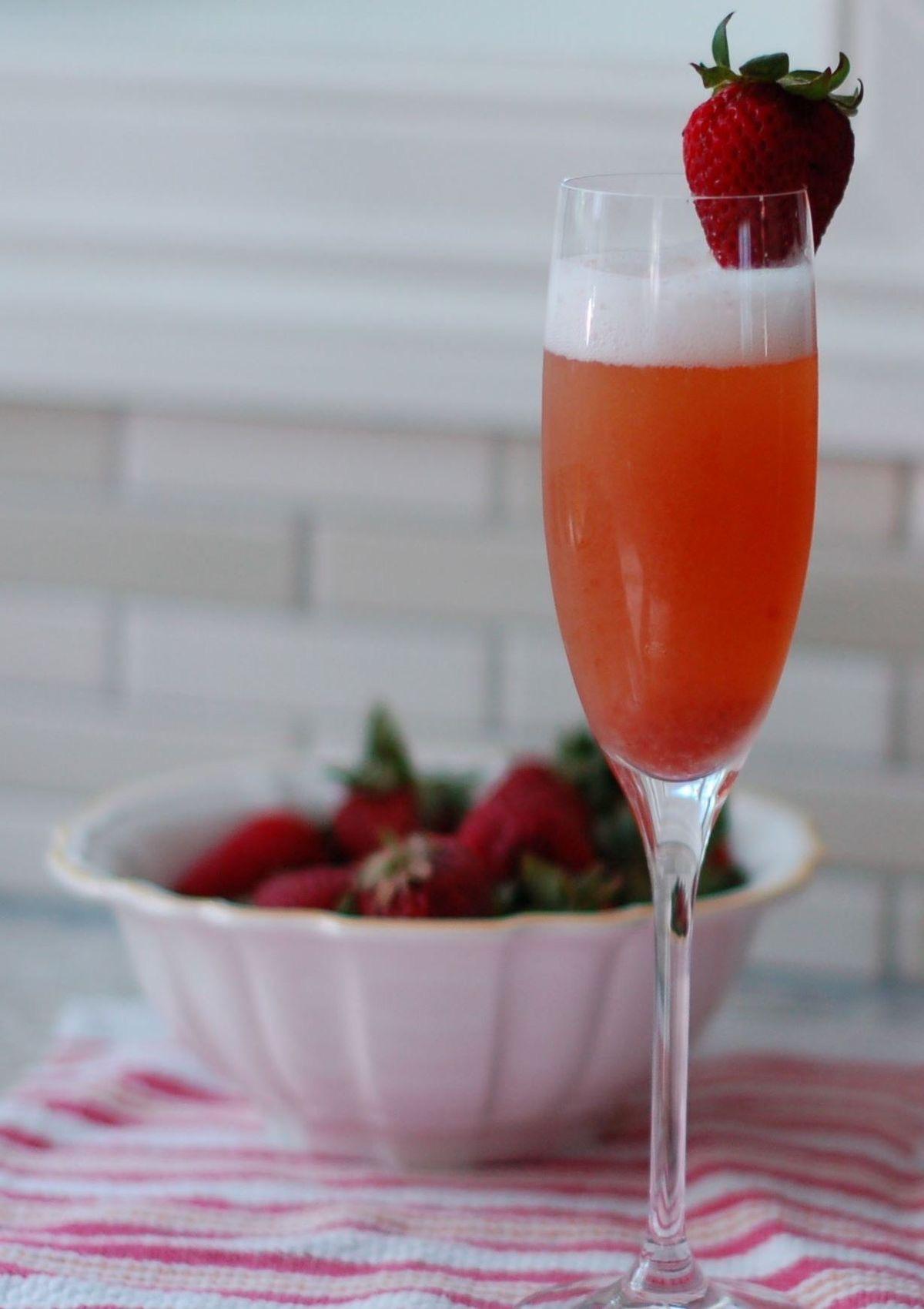 Mimosa de fresa.