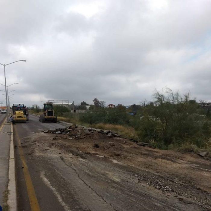 Dirección de Obras Publicas de acuña inicia retiro de carpeta asfaltica