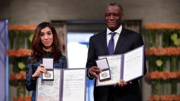 Nadia Murad y Denis Mukwege reciben el Premio Nobel de la Paz