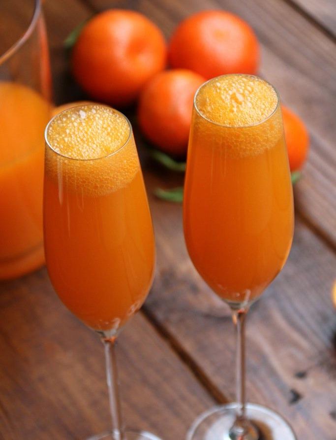 Mimosa de mandarina.