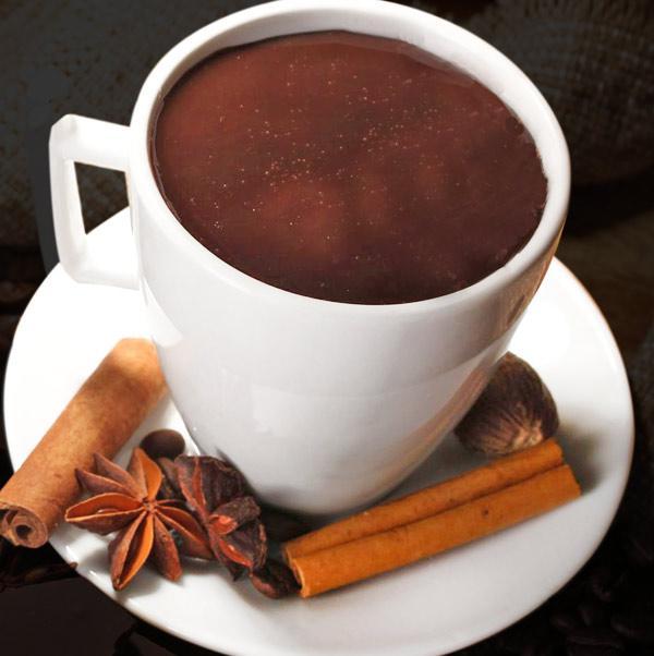 Chocolate caliente con especias.