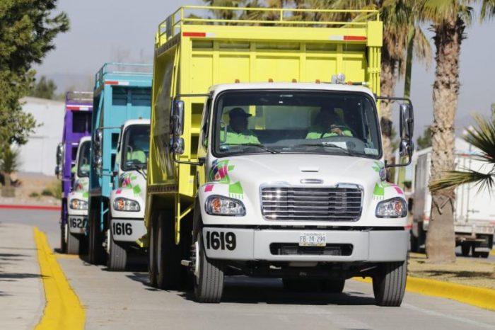 Llegan a Saltillo súper camiones recolectores de basura