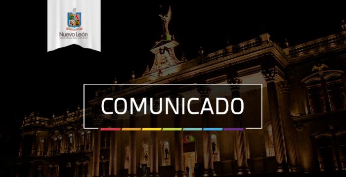 COMUNICADO DE GOBIERNO DE NUEVO LEÓN