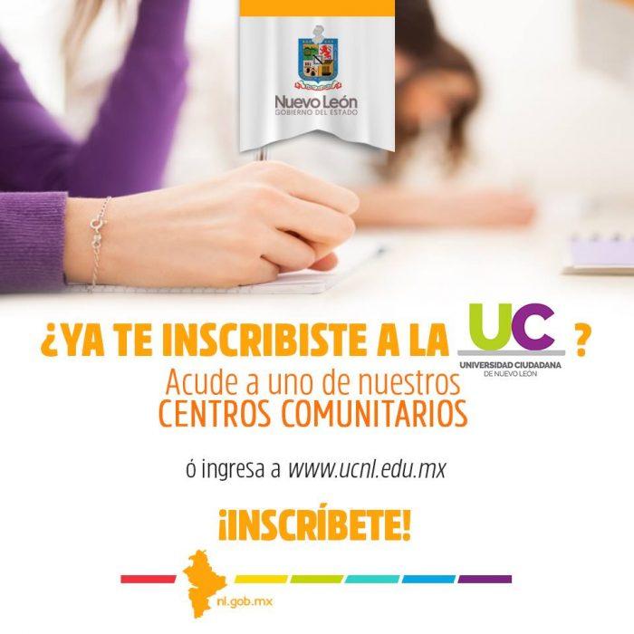 Invita Gobierno de Nuevo León a re-inscribirse en la Universidad Ciudadana