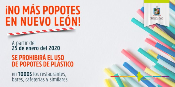 Prohibe Nuevo León el usos de popotes plásticos para el 2020