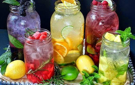 Bebidas para bajar de peso.