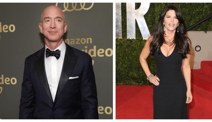 Jeff Bezos sale con una reportera de televisión