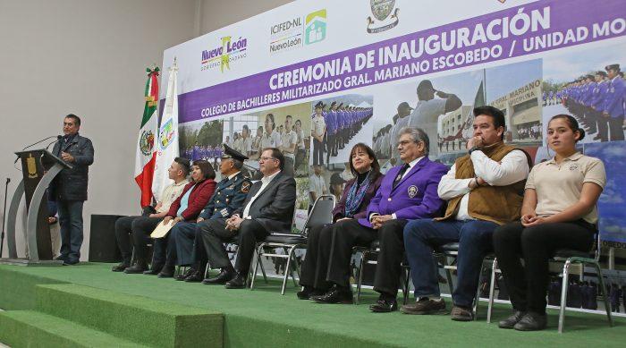 Inaugura Gobernador Jaime Rodriguez Colegio Militar en Montemorelos