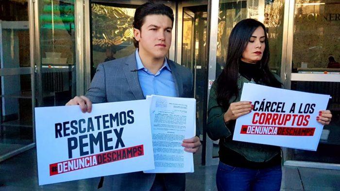 Senadores de MC (Movimiento Ciudadano ) presentan denuncia contra Romero Deschamps ante la FGR