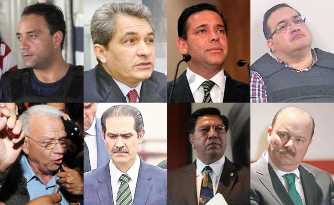 PGR logró proceso para 8 exgobernadores, pero sólo 1 ha recibido sentencia