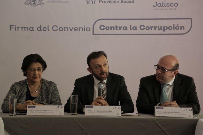 FIRMAN STYPS Y CONTRALORÍA DEL ESTADO DE JALISCO CONVENIO CONTRA LA CORRUPCIÓN