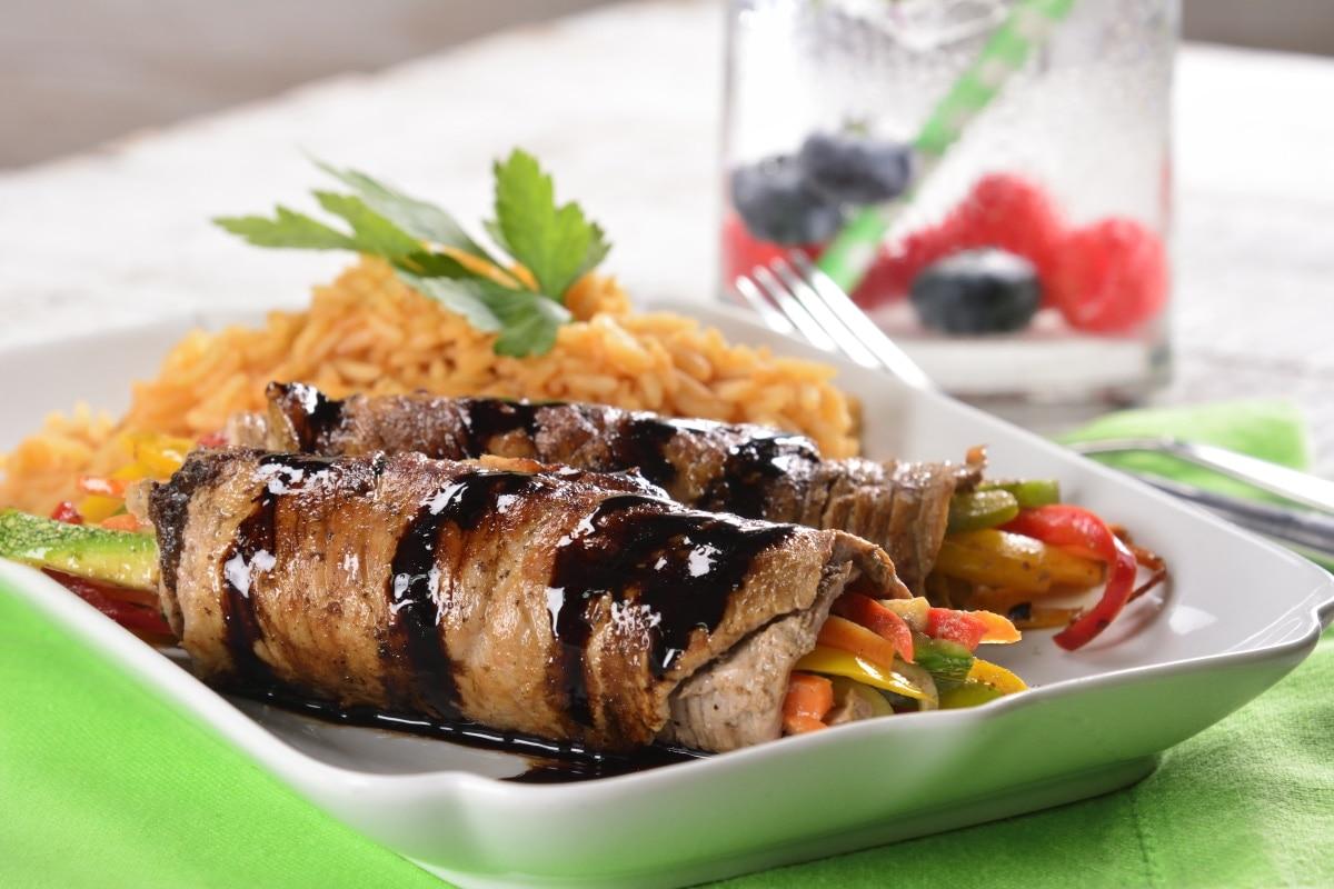 Rollitos de carne con Balsámico.