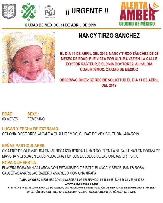 Roban a bebé de 8 meses afuera de hospital de la CDMX; madre la encargó con sobrino de 15 años