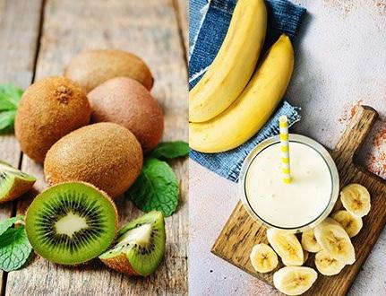 Licuado de Kiwi y Plátano para Remplazar la Cena.