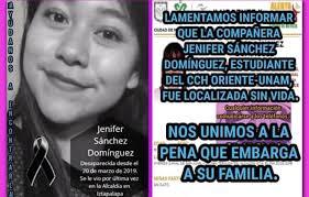 Hallan muerta a Jenifer, estudiante del CCH Oriente que estaba desaparecida