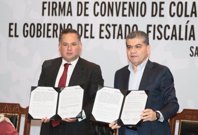 Firman convenio Coahuila y Federación para combatir lavado de dinero