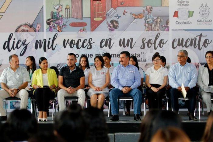 Participan más de 16 mil personas en lectura masiva en Saltillo
