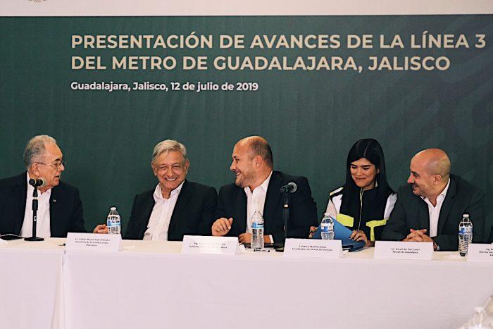 FIRMAN GOBIERNO FEDERAL Y JALISCO CONVENIO PARA LA CONSTRUCCIÓN DE LA L4 DEL TREN LIGERO