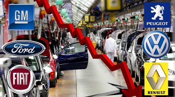Cae Mercado automotriz en México