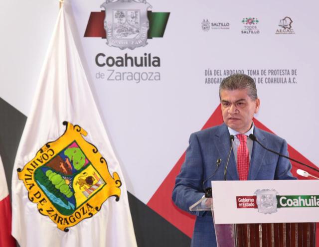 COAHUILA, CON PLENO ESTADO DE DERECHO, TIENE SEGURIDAD Y PROSPERIDAD: RIQUELME