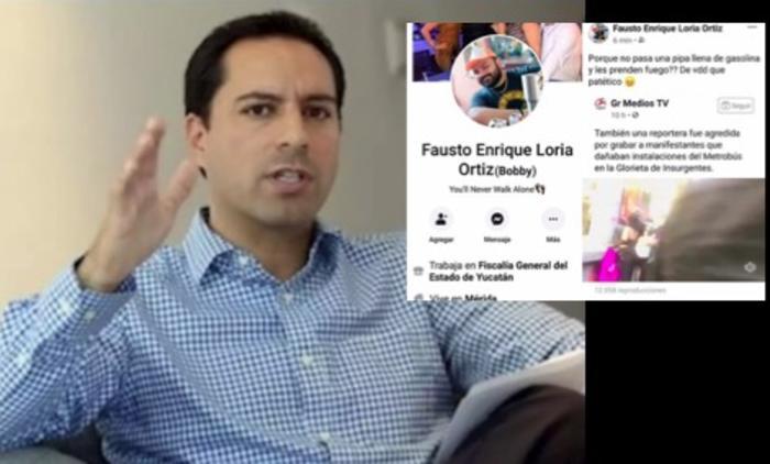 Despiden a empleado de Fiscalía de Yucatán por sugerir incendiar a mujeres