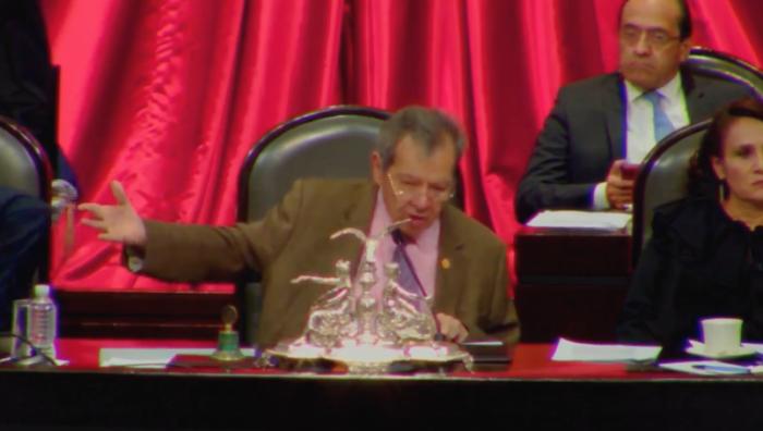 """""""¡Qué chinguen a su madre!"""", dice Porfirio Muñoz Ledo durante votación en la Cámara de Diputados"""