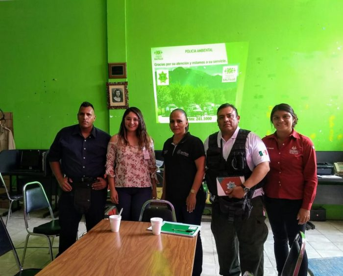 Comparte Saltillo el modelo de Policía Ambiental con municipio de Coahuila